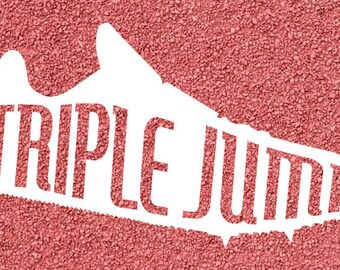 Track Spike Decal - Triple Jump