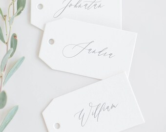 Wedding Name Tags / Custom name tags / Name cards / Hang tags