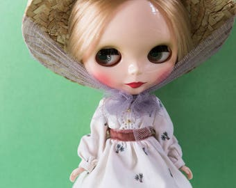 Blythe Doll Outfit - Palm Tree Bell Dress