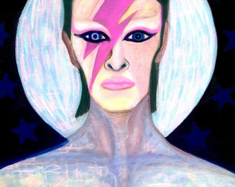 David Bowie Art print