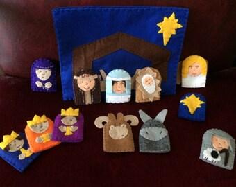 Nativity finger puppet set