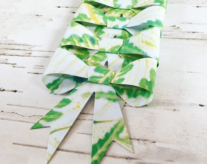 Gift bows, gift wrap, gift toppers, set of 4, unique paper bows, floral paper bows, handmade paper bows, floral gift wrap, gifts for her