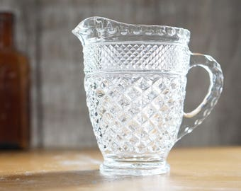 Vintage Wexford Anchor Hocking Beautiful Cut Glass Pitcher
