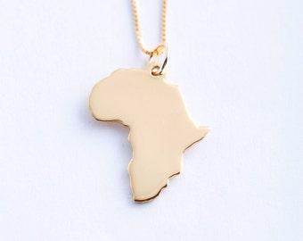 Large 14k Gold Africa