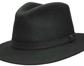 Fedora hat crushable felt wool