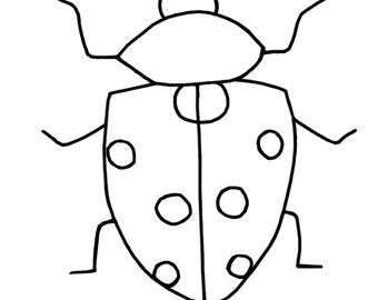 Coloring Page: Ladybug