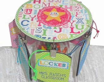 Teacher Gift Personalized Desktop Hall Pass Carousel Star Teacher