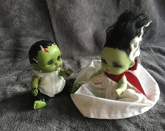 Fankenbaby & His Bride Dolls