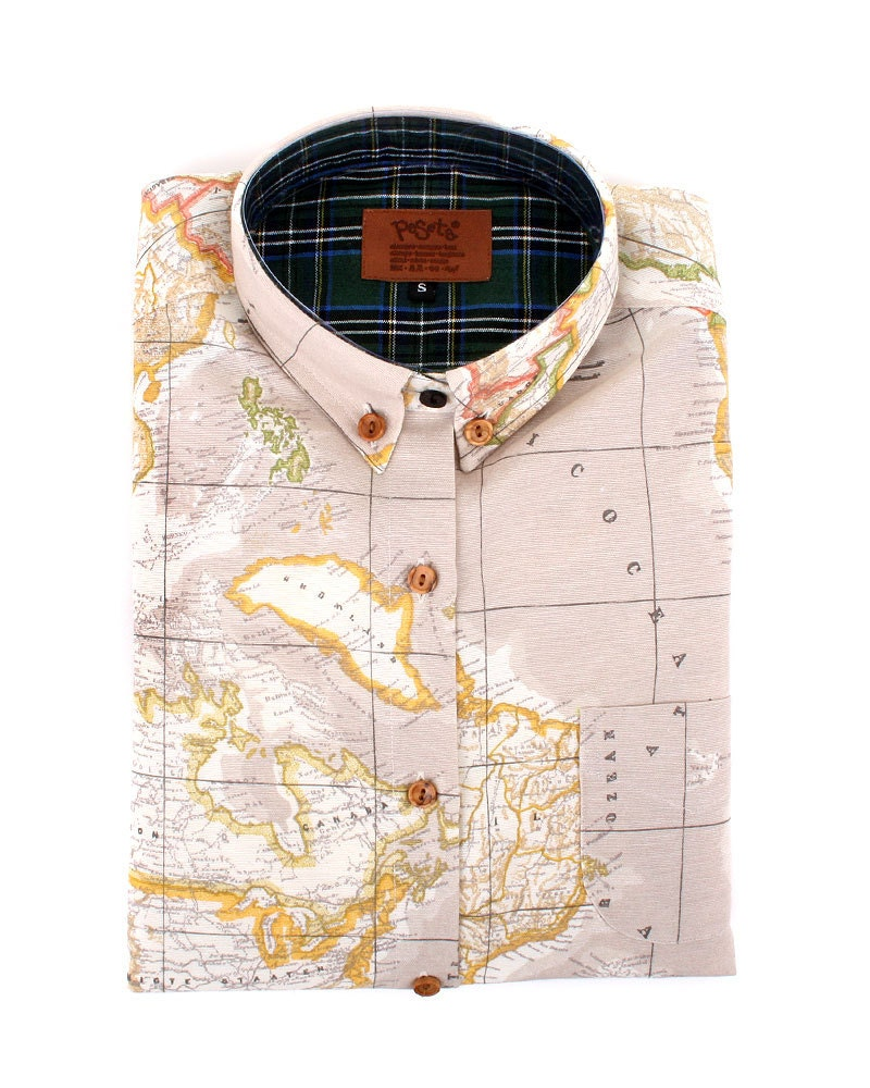 Beige worldmap fabric cotton polyester made in spain world 1100 gumiabroncs Images
