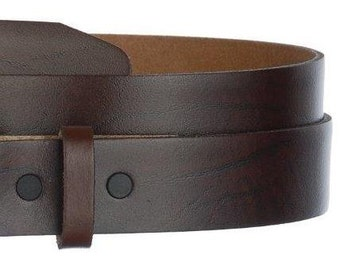 """Brown Oil Tanned Leather Belt Strap- Snap On- Men's Women's- USA- 1.5"""" -29 30 31 32 33 34 35 36 37 38 39 40 41 42 43 44 45- More Belts Avail"""