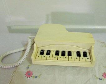 piano phone, 1980's