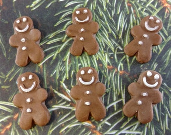Edible Fondant Gingerbread Men-Cake Pop Toppers-Cake/Cupcake Toppers-Christmas Decorations