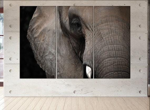 elephant wall decor art  elephant black white  elephant canvas wall art  canvas wall art