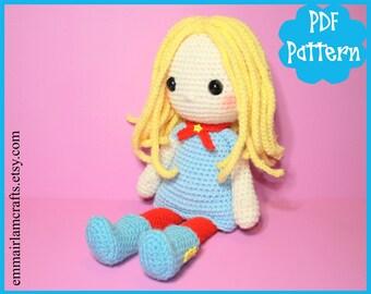 PDF - Sally, Doll Crochet Pattern, Doll Amigurumi, Amigurumi Pattern, Doll Plush, Crochet Doll Plushie, Crochet Toy, Rag Doll, Doll,