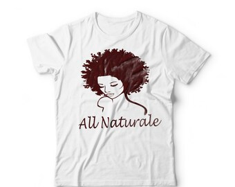 Women's All Naturale 100% Cotton T-Shirt Brown Silouhette Graphic Tee
