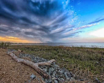 Stormy Sunset, Delaware  (Photography)