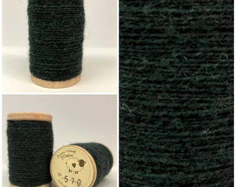 Rustic Moire Wool Thread #570 for Embroidery, Wool Applique and Punch Needle Embroidery