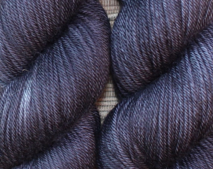 Hand dyed yarn - 'Graphite' - dyed to order on your choice of base yarn.