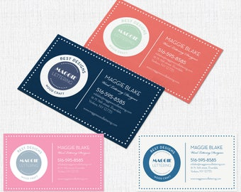 100 Business Card  Single sided 2 x 3.5 - Style Maggie