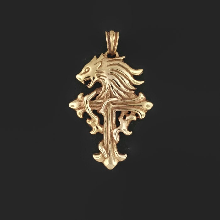 Squall leonhart pendant from final fantasy 8 in antique bronze mozeypictures Image collections