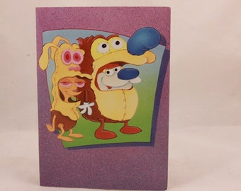 Vintage 1994 The Ren & Stimpy Show Birthday Card by OZ. 1 Card and 1 Envelope included