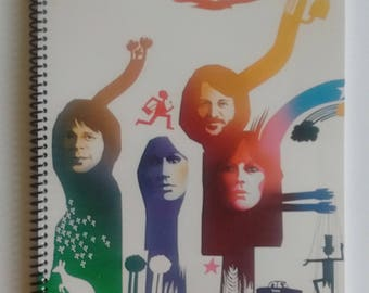"""ABBA Spiral Notebook Hand Made from Upcycled Vinyl Record Album Cover """"The Album"""""""