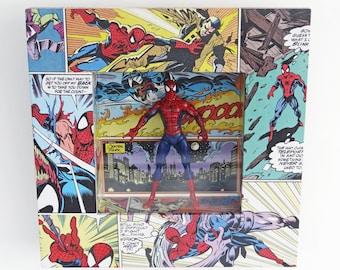 Spiderman Custom Framed Figure