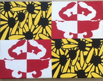 Black Eyed Susan & Crab Maryland Flag