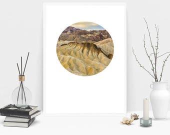 Zabriskie Point Photography Print, Wall Art, Color Print, Printable Art, Instant Digital Download Print