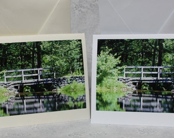 Bridge photograph on White or Ivory Card stock with envalope