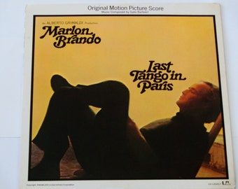 Last Tango in Paris - Marlon Brando - Gato Barbieri - Original Film Score - United Artists 1972 - Vintage Vinyl LP Record Album