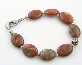 Brown Zebra Jasper Bracelet, Beaded Bracelet, Boho Jewelry, Beaded Jewelry, Handmade Bracelet, Gemstone Bracelet, Gem Jewelry, B301