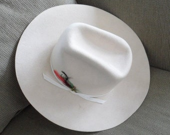 VINTAGE Unisex Western Head Gear/Stetson Cowboy Hat/Made in Canada by Lanning under Brand Name EAGLE/Made 2 be worn at Calgary Stampede
