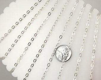 Silver Chain - 4mm Tiny n' Perfect Silver Brass Chain - 10 feet / 3 meters