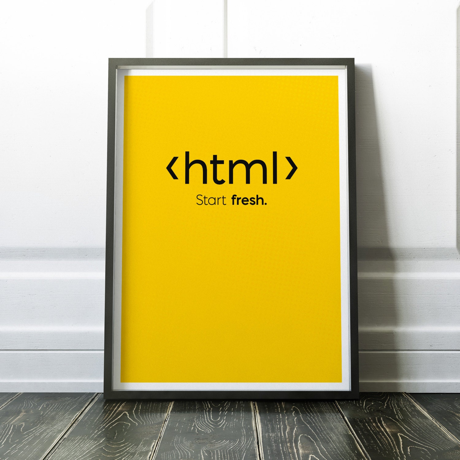 HTML Code Print Art Print For Geeks Web Designers Wall Art
