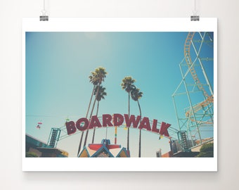 Santa Cruz photograph boardwalk photograph california photograph Santa Cruz print Santa Cruz boardwalk palm tree photograph