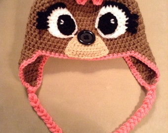 Reindeer hat- Rudolph or Clarisse- Made to order. Any size