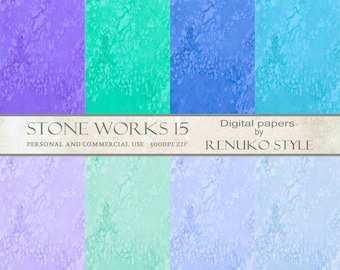 Stoneworks 15 Collage Papers Digital Scrapbook Papers
