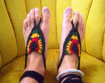 Barefoot Sandals - Rastafarian Retreat - Earthing Grounding Sandals