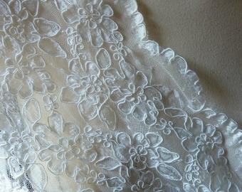 SALE Ivory Lace Alencon Lace for Bridal, Clutches, Accessories