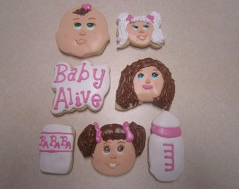 1 Dozen Baby Alive Hand Decorated Cookies