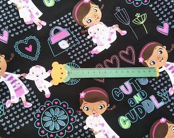 """100x140cm/39""""x55"""" Disney Doc McStuffins Cotton Plain Fabric"""
