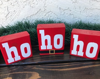 Ho Ho Ho Wood Blocks
