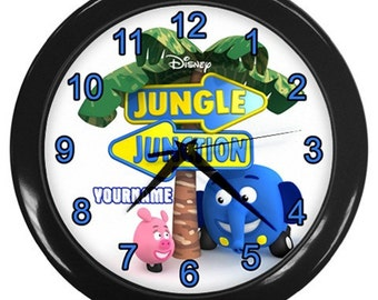 Jungle Junction Personalized Wall Clock - Great Birthday Gift for Girl or Boy