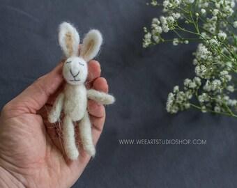 Felted Tiny Rabbit