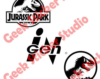 Jurassic Park Logo Pack - Digital SVG / Studio3 files