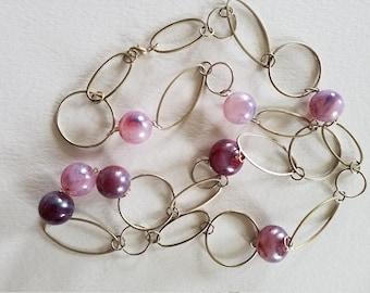 Boho Hoops and Purple Balls
