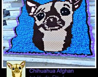 C2C Graph, Chihuahua Afghan C2C Graph & Written Word Chart