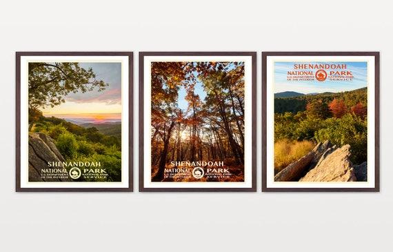 Shenandoah National Park - Shenandoah National Park Art - National Park Poster - WPA Art - WPA Poster - Appalachian Trail Virginia Art - WPA