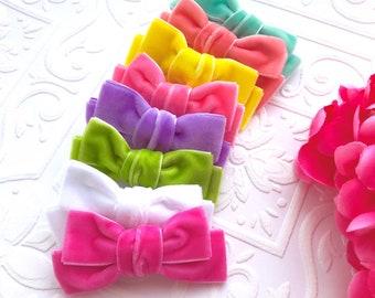 The Velvet Bow Headband or Hair Clip